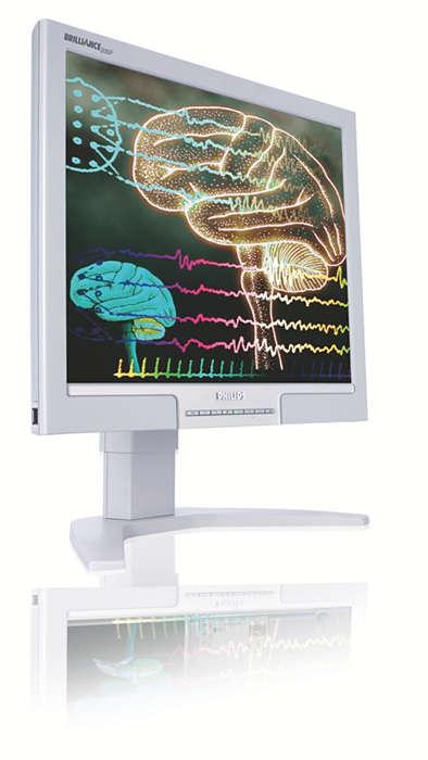 Bildskärm med hög produktivitet för medicinska miljöer