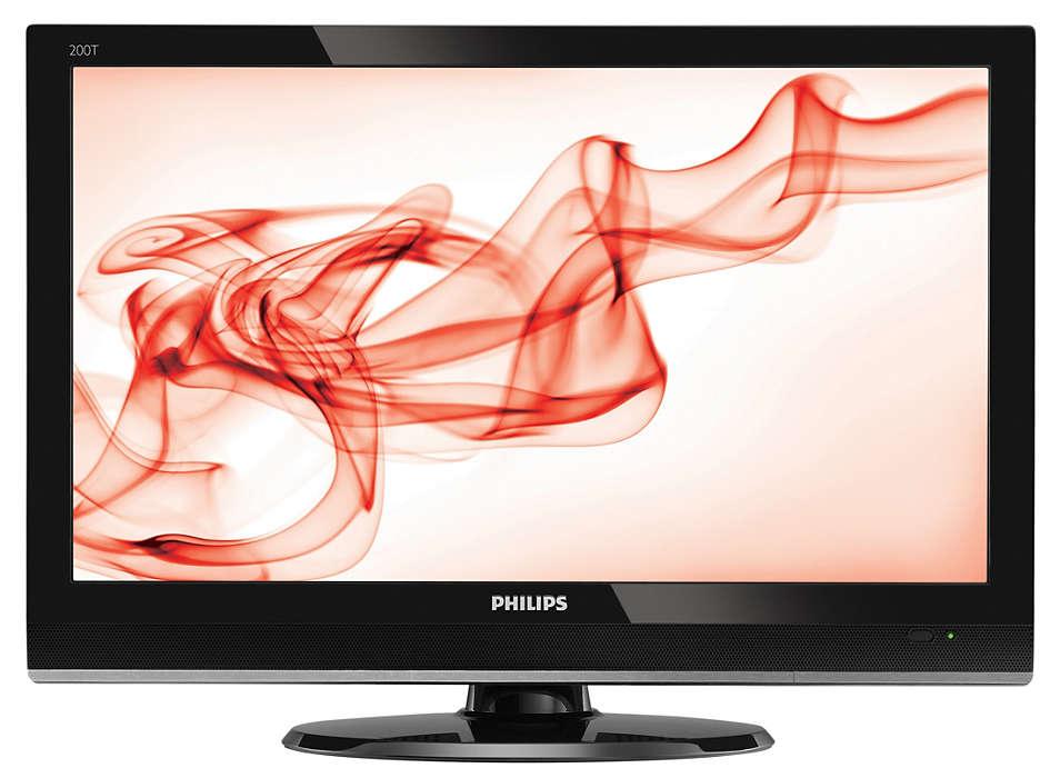 จอทีวี HD ที่มี HDMI ในรูปลักษณ์ที่มีสไตล์