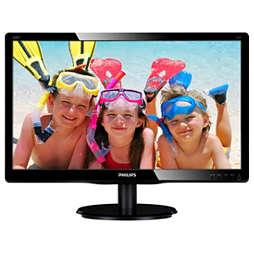 Monitor LCD com iluminação LED