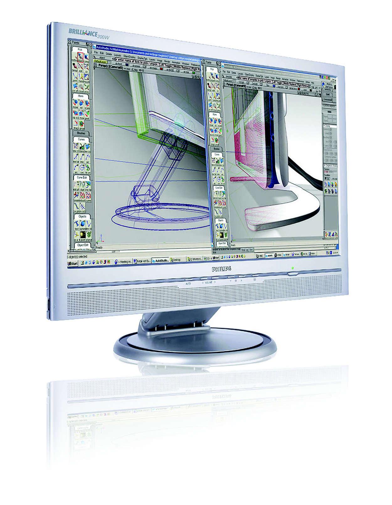 Büyük ve geniş ekran verimliliği için en iyi seçim.