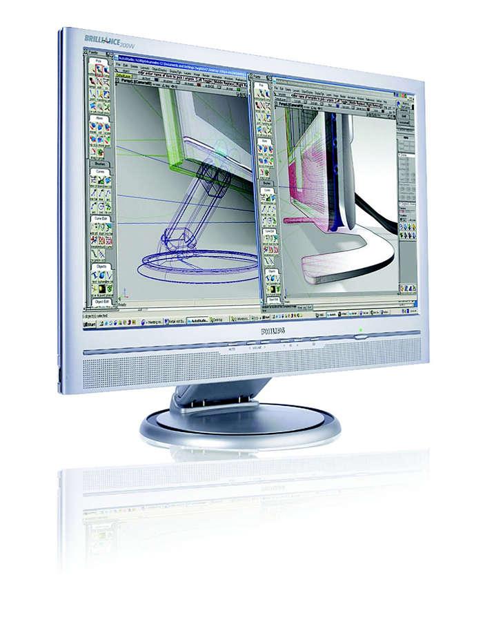 大型寬螢幕,是提升生產力的最佳選擇