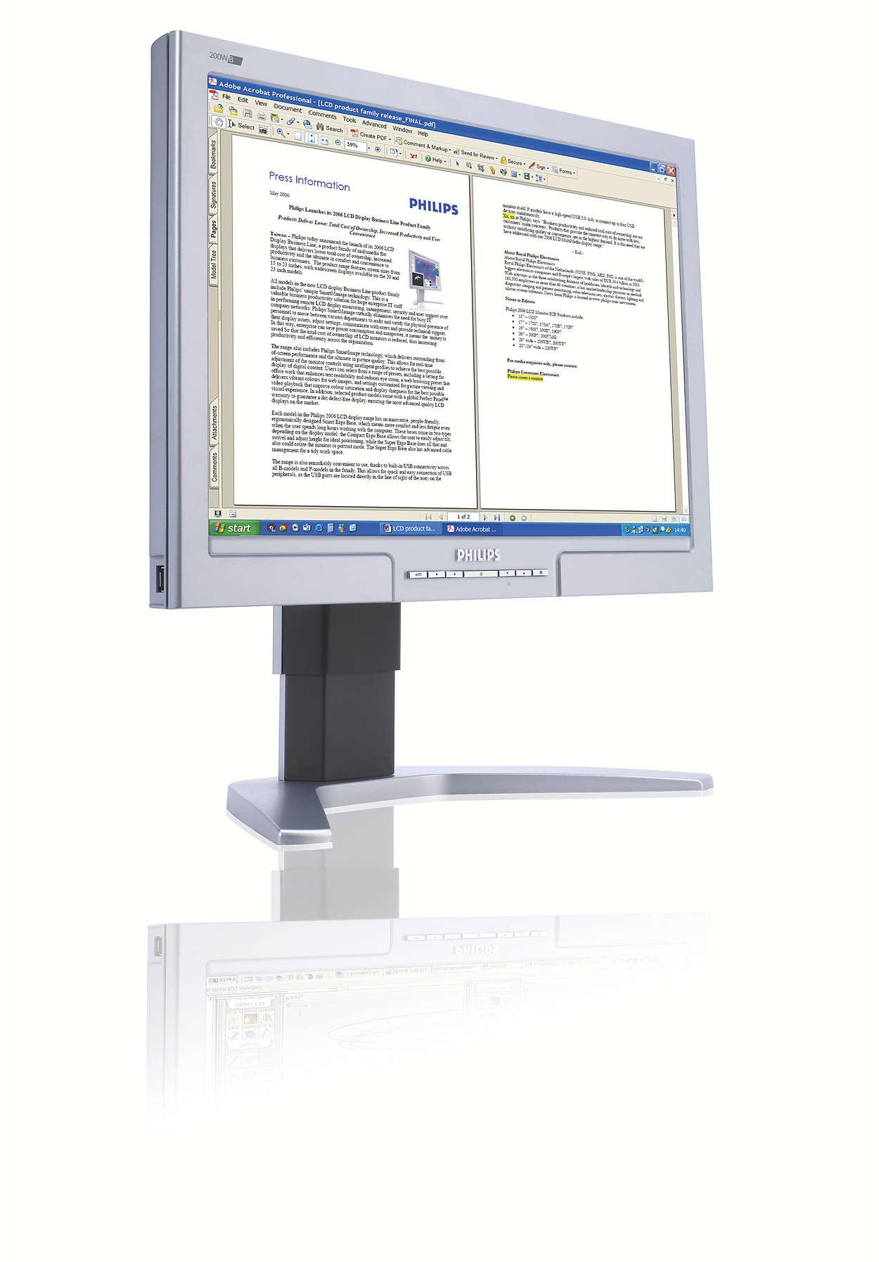 Větší a širší obrazovka: lepší produktivita práce