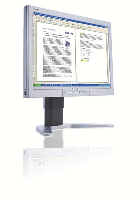 更大、更闊的熒幕:提高業務效率