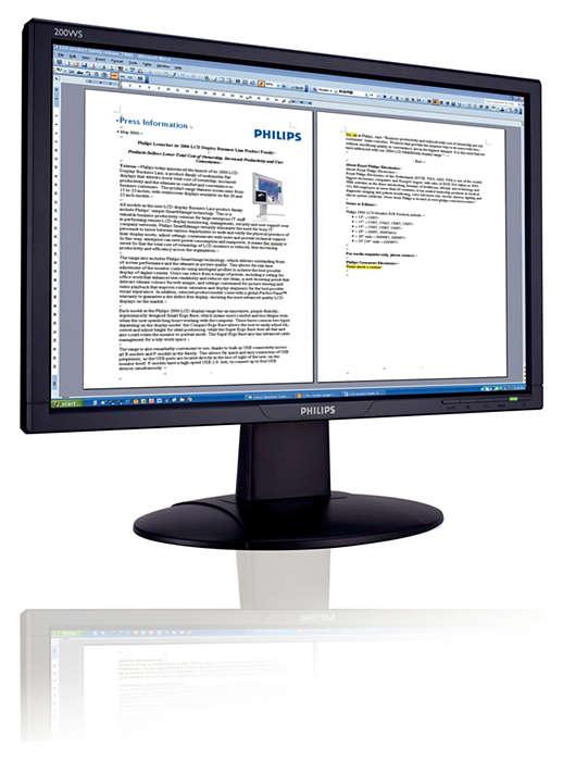 Ευρεία οθόνη Vista-ready για επιχειρησιακή παραγωγικότητα