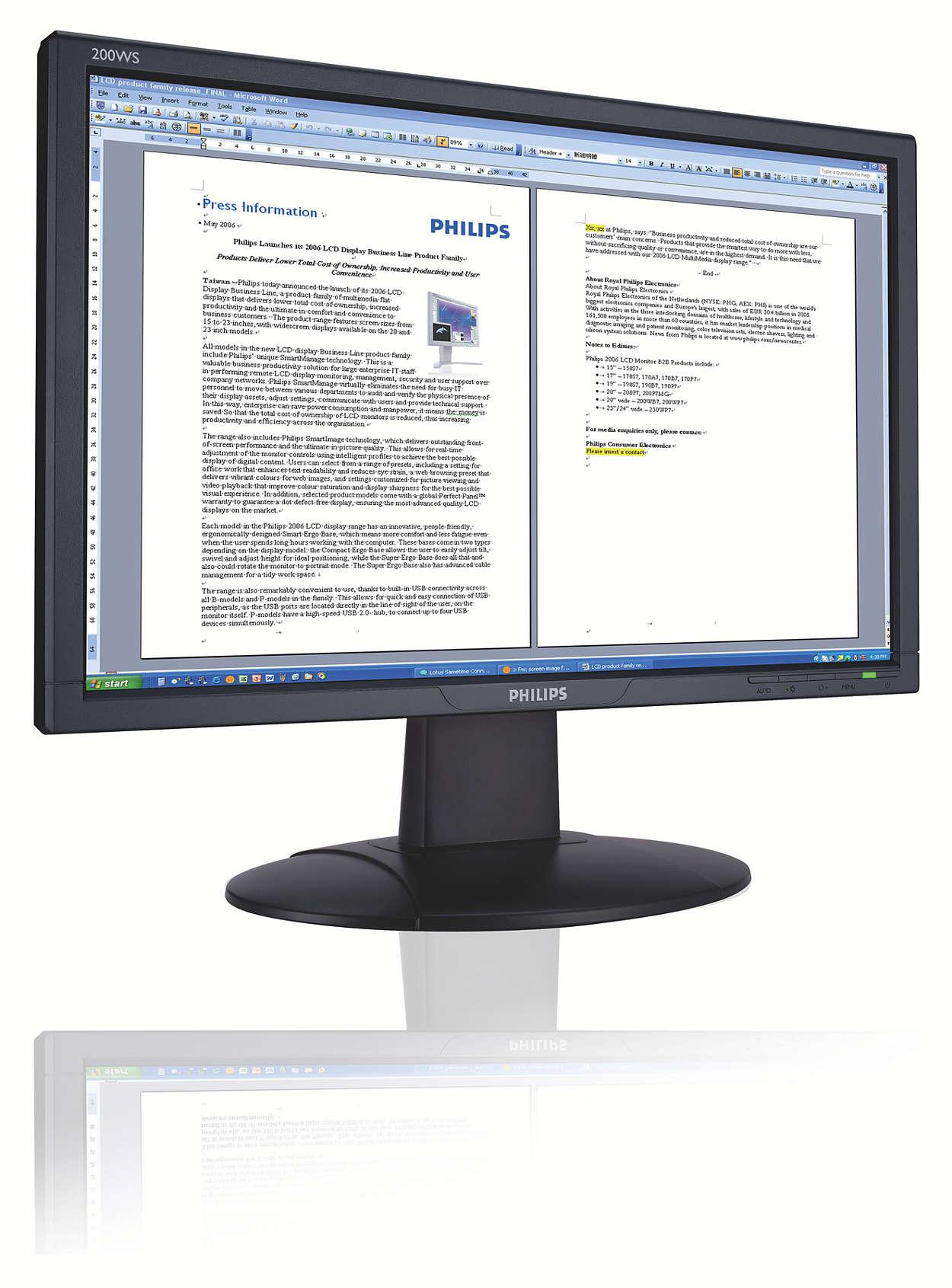 可提高業務效率的 Vista 兼容闊熒幕