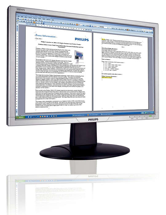Vista-kompatibler Breitbildmonitor für Unternehmensproduktivität