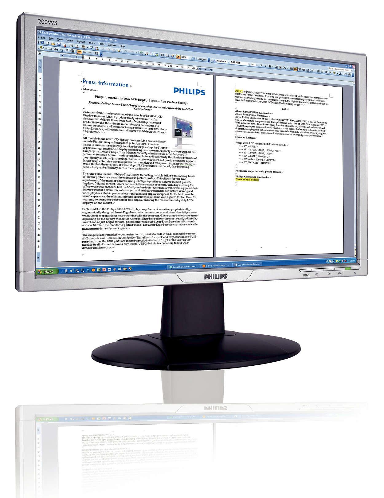 Widescreen Vista-ready per la produttività aziendale
