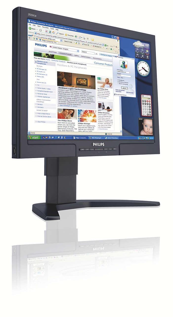 Widescreen-opplevelser pluss stor anvendelighet