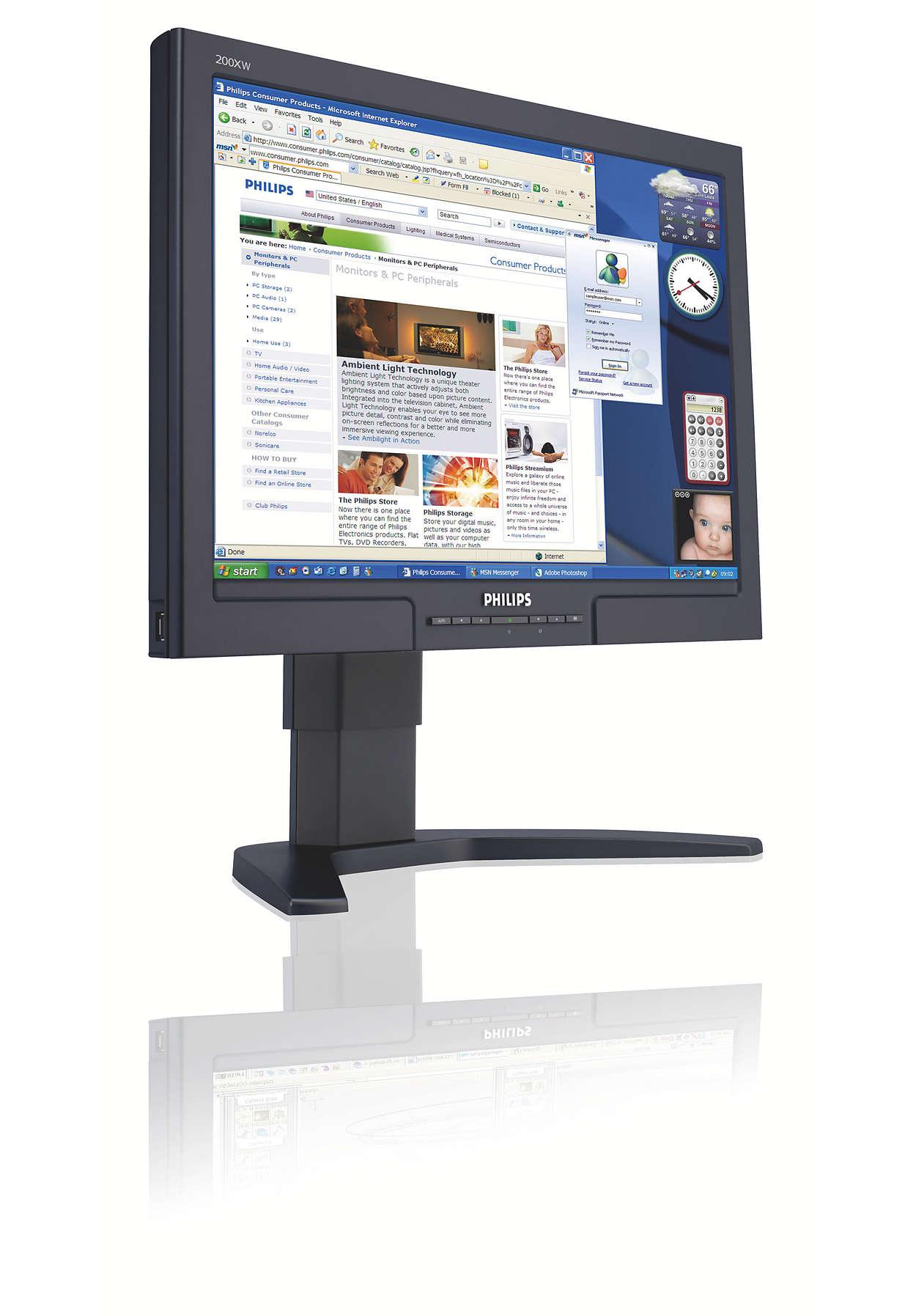 Un ecran panoramic, pentru mai mult confort