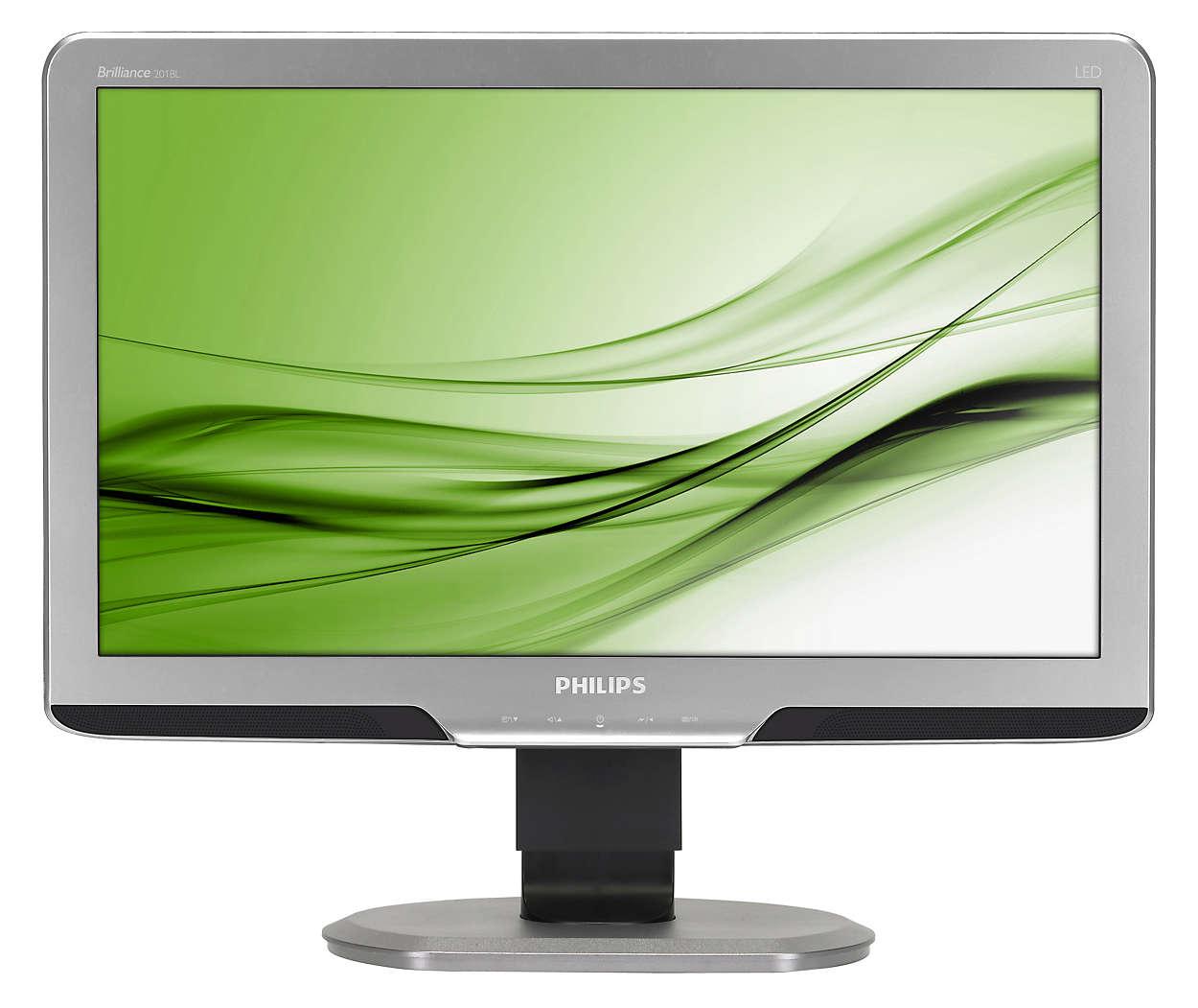 Ergonomisk skærm til arbejdsbrug øger produktiviteten