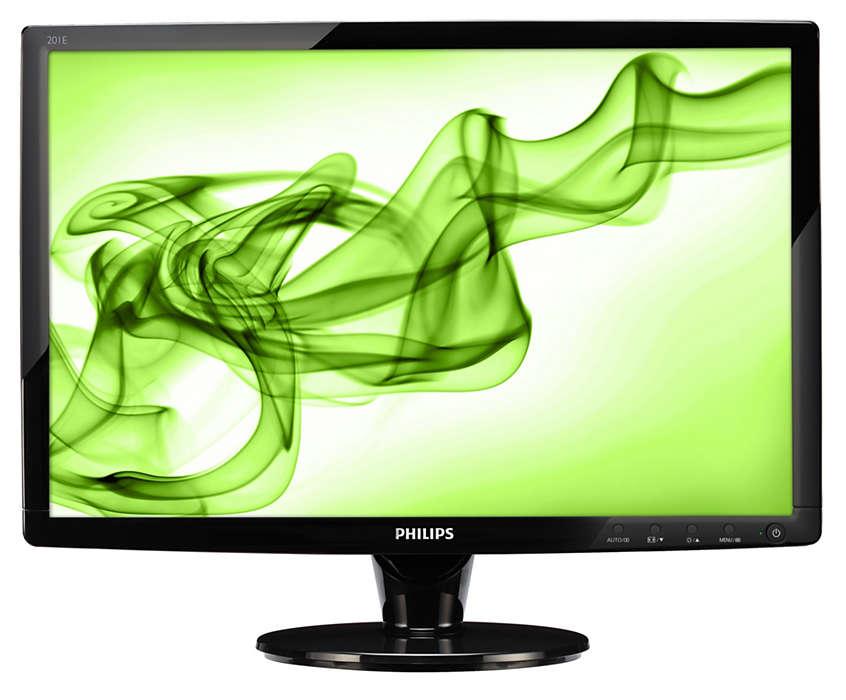 Lekker HD-skjerm i 16:9 gir mye for pengene