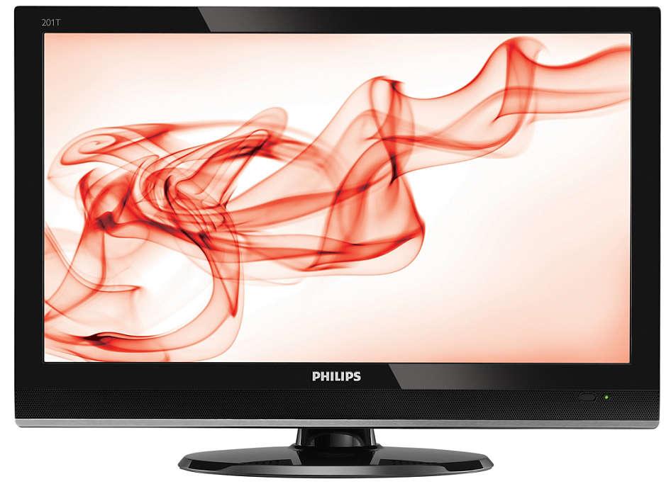 Monitor digital de TV de alta definición en una elegante unidad