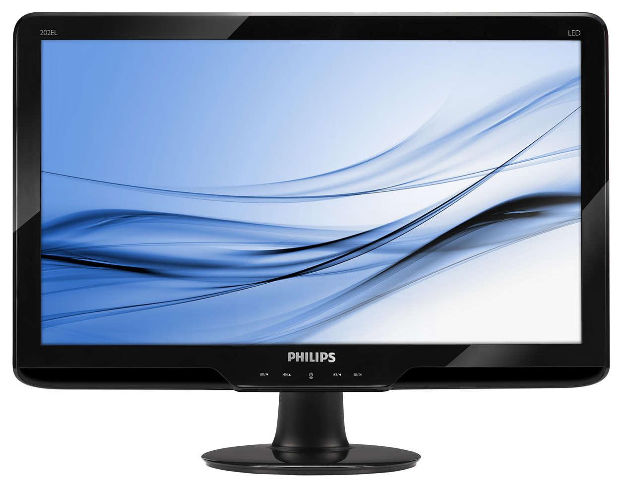 Ecrã HD de 16:9 brilhante com controlos SmartTouch