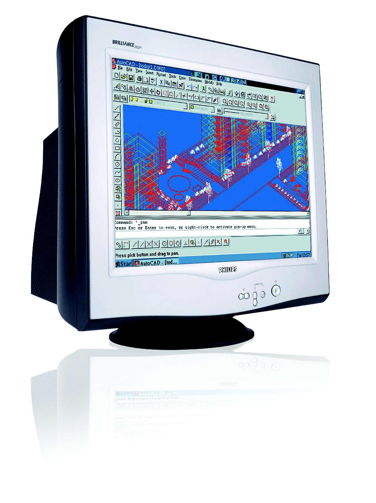 專業級、高解析度的顯示螢幕