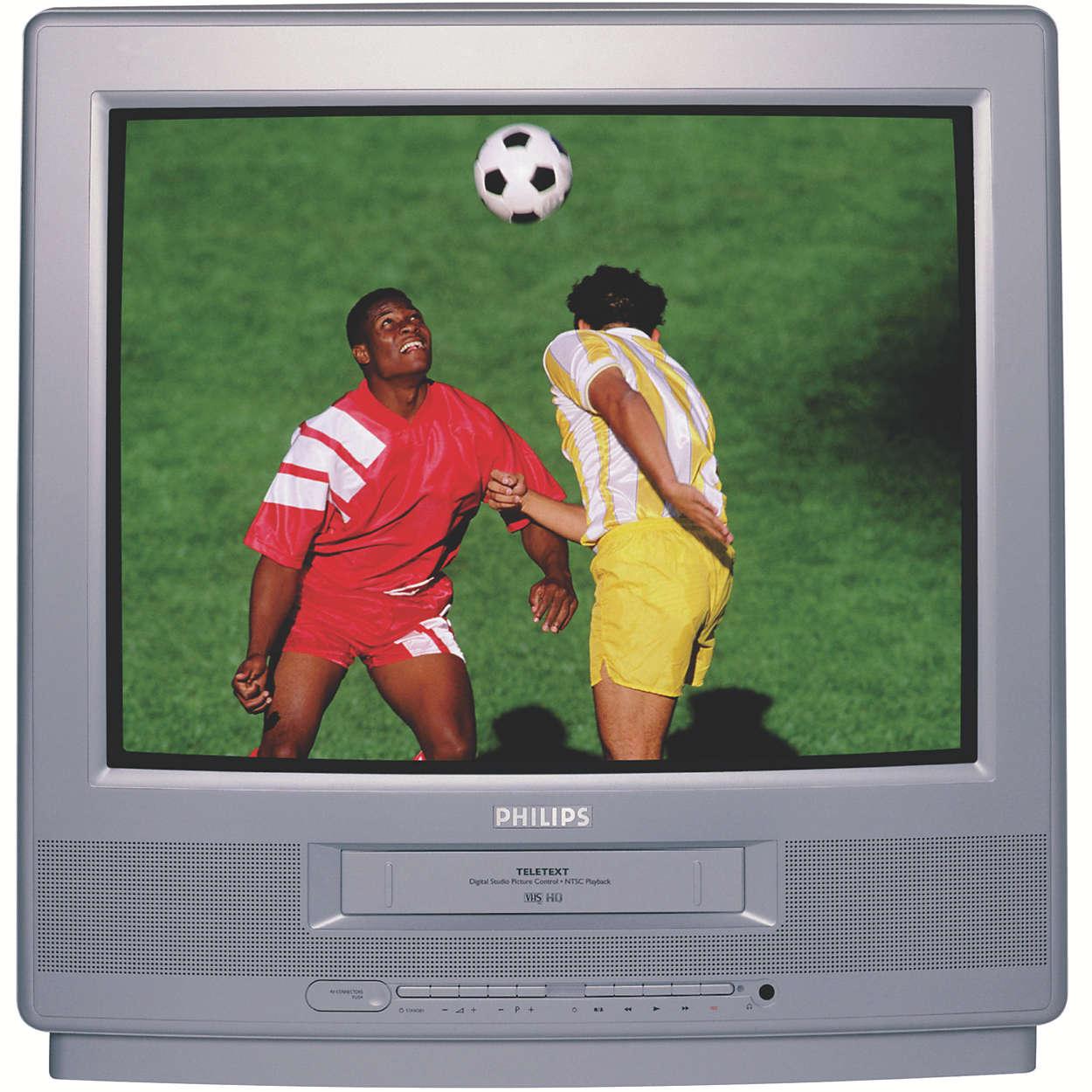 Um Combi TV - Videogravador de grande ecrã com Teletexto