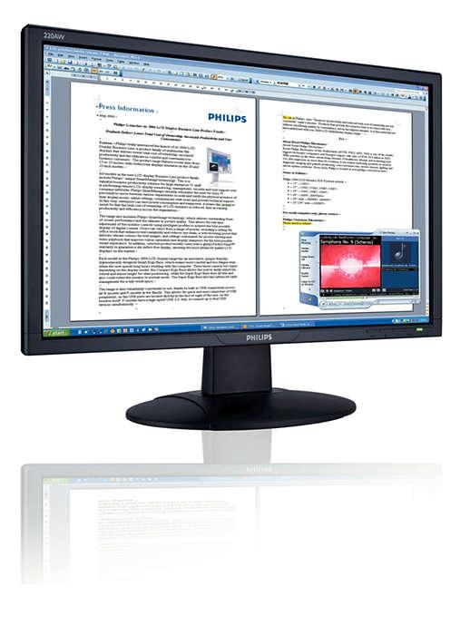 Kolay kullanılan dahili ses, Vista uyumlu geniş ekran