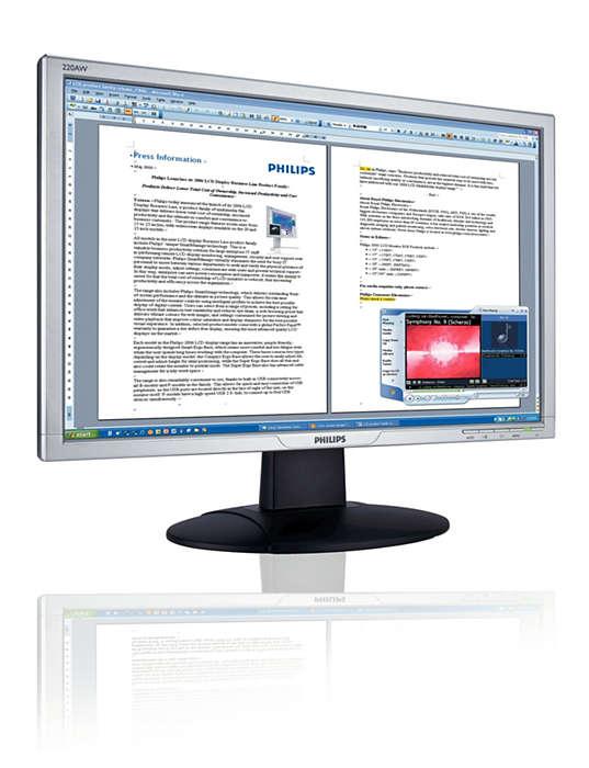 Vista-kompatibler Breitbildmonitor mit integrierten Lautsprechern