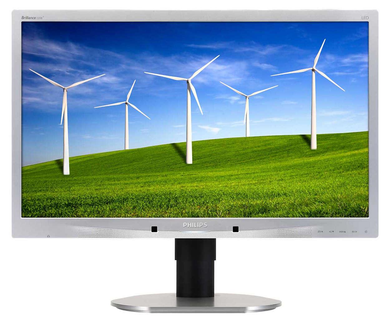Monitor met duurzaam eco-ontwerp