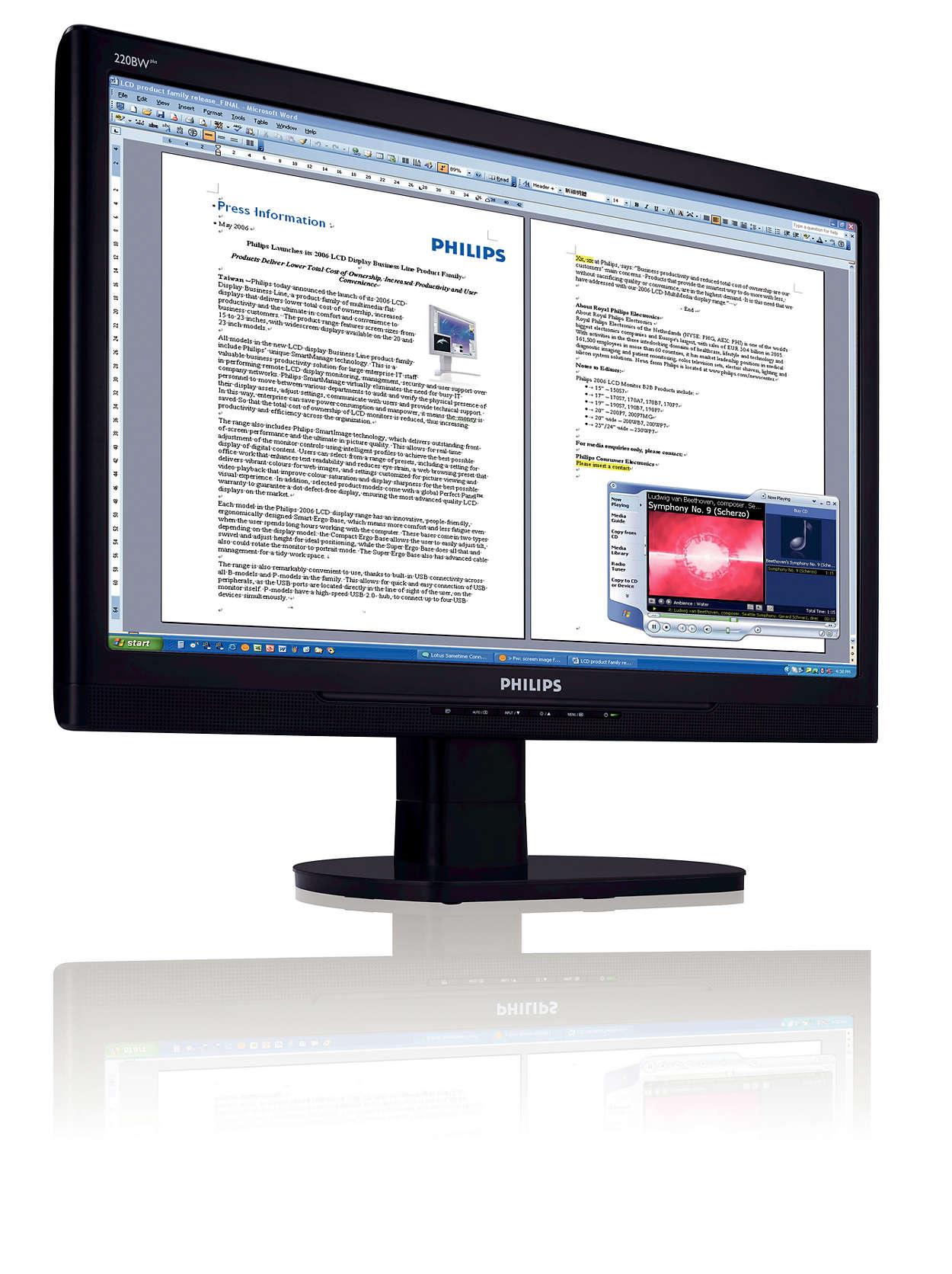 更大、更闊的熒幕:更出色的業務效率