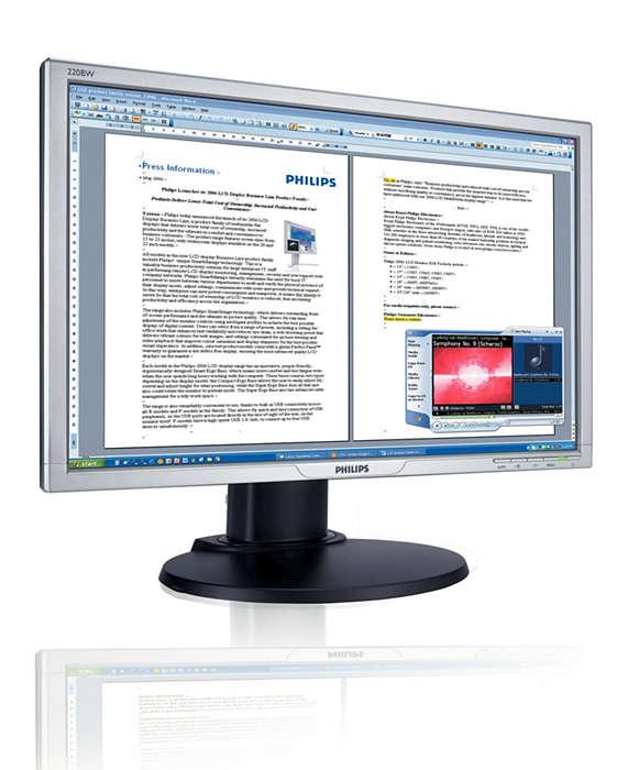 Ecrã maior e mais largo: melhor produtividade empresarial