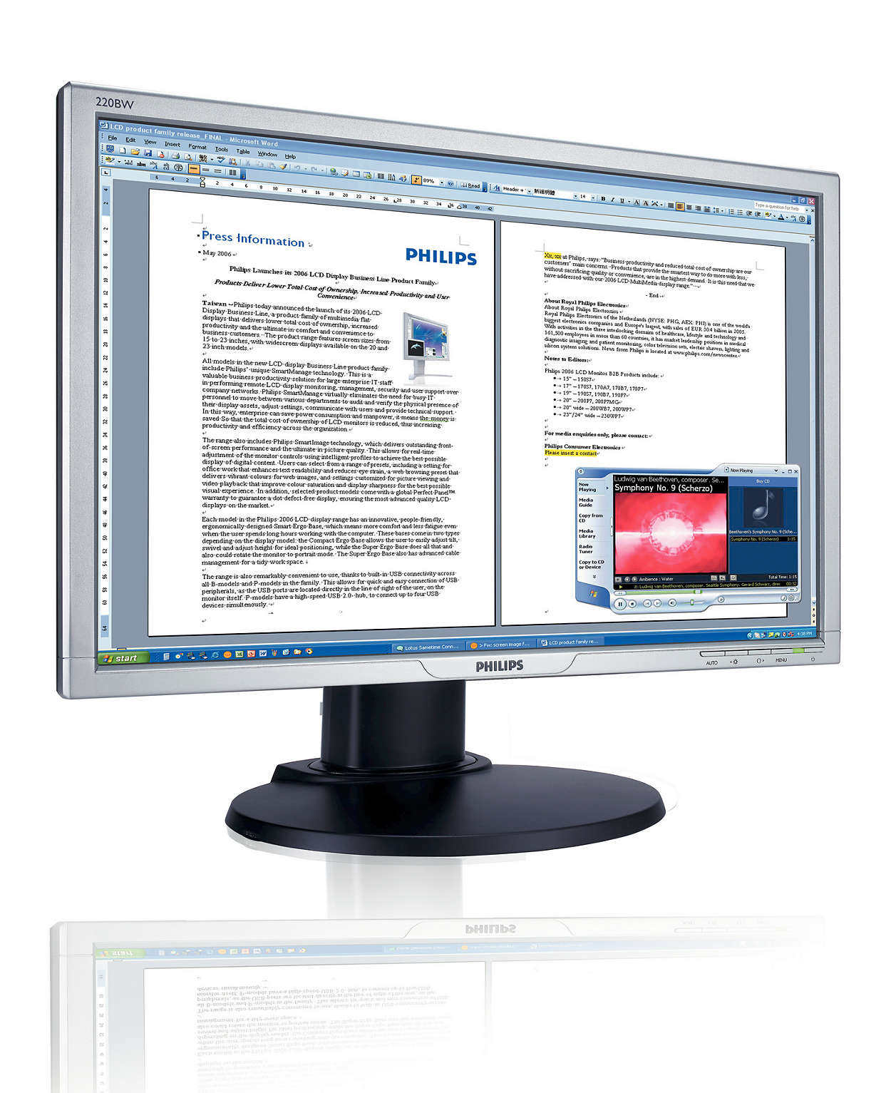 Större och bredare skärm ger ökad produktivitet