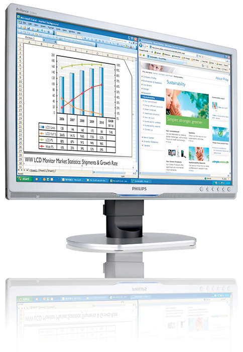 Ergonomisk skärm för bättre produktivitet