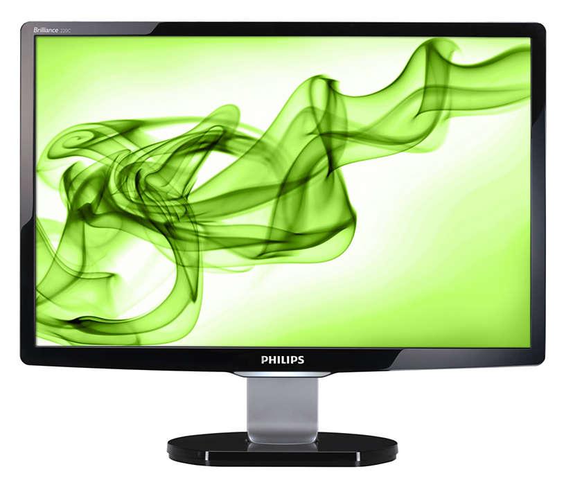 Bilgisayarlı eğlence için özelliklerle dolu şık ekran