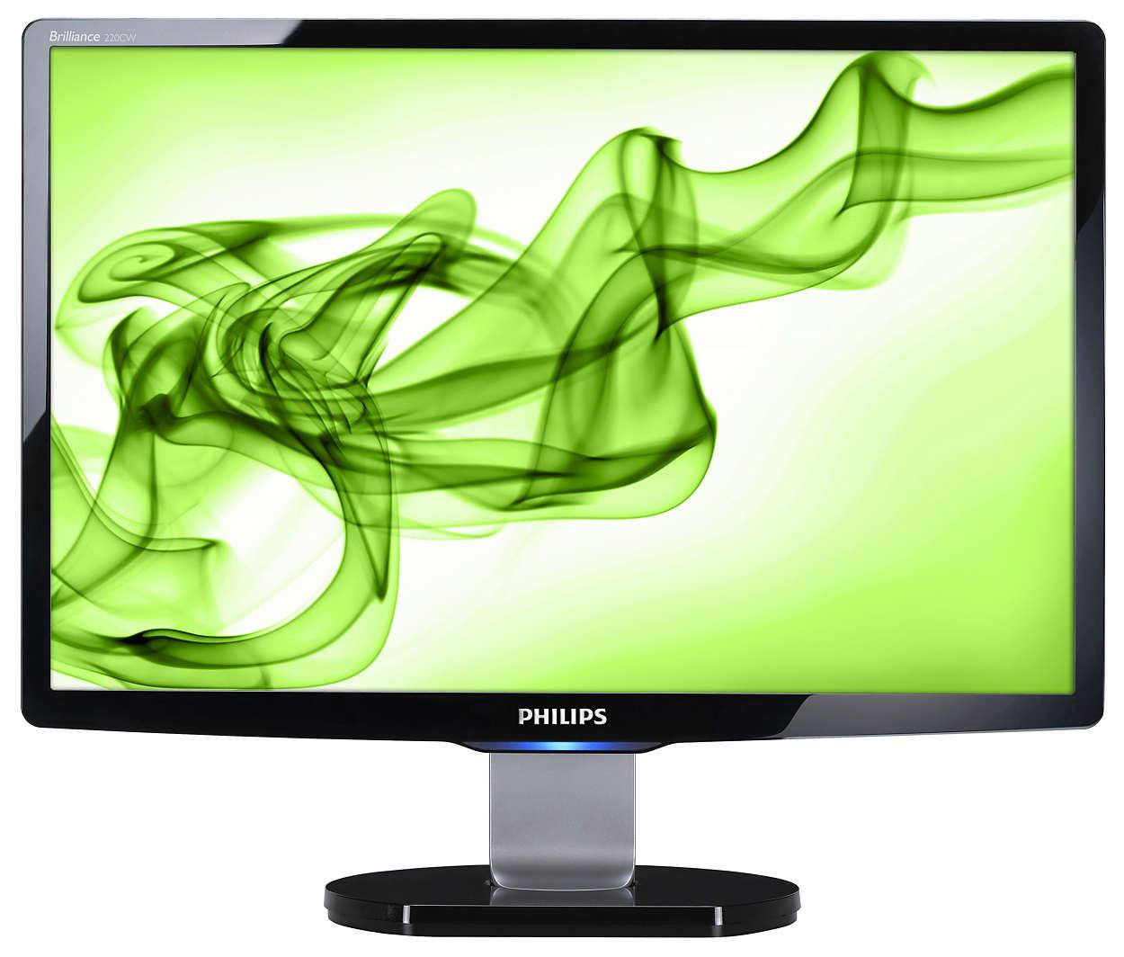 Ecrã panorâmico elegante para informática em casa