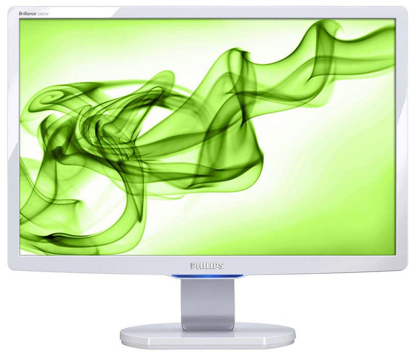 適用於家庭電腦娛樂的大型時尚寬螢幕