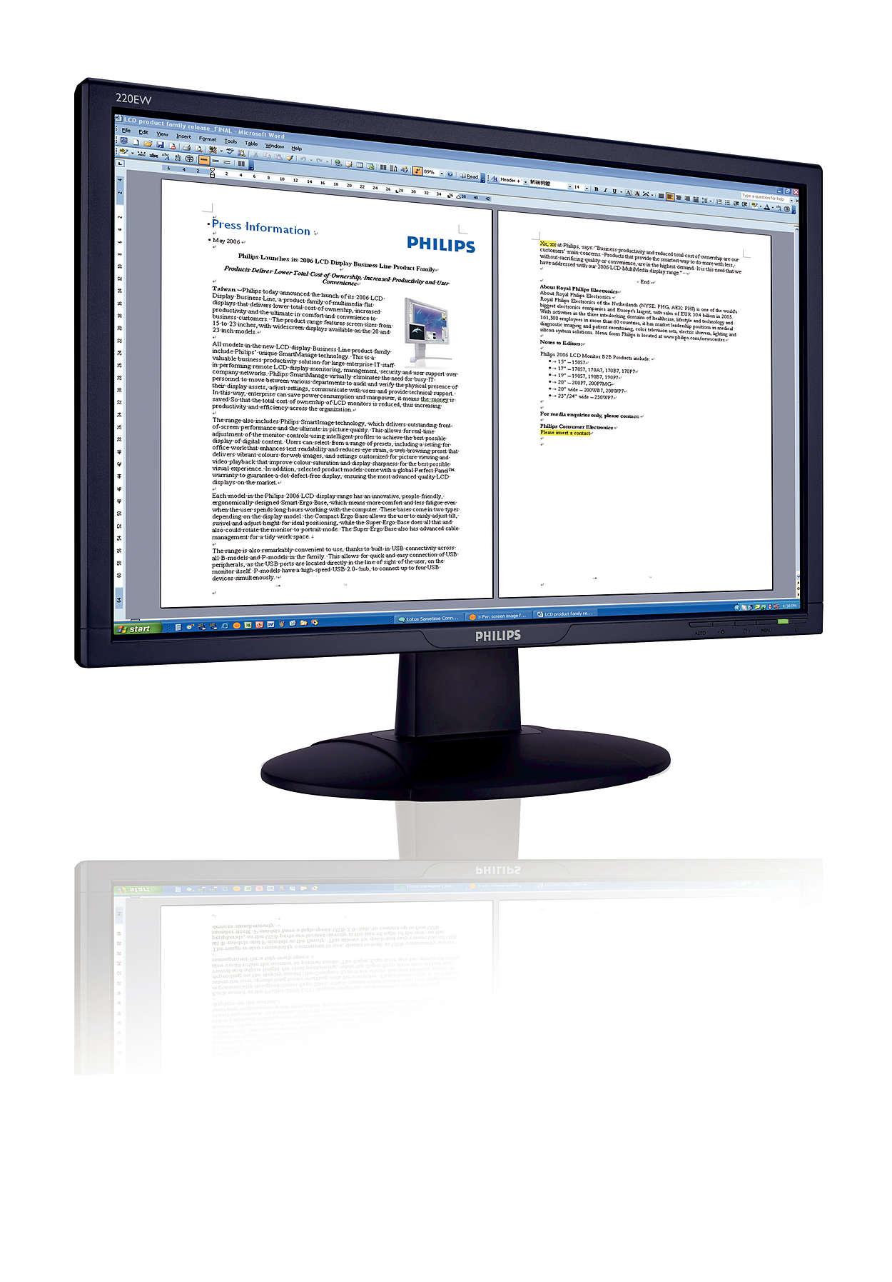 完美寬螢幕,呈現最佳成本效能價值