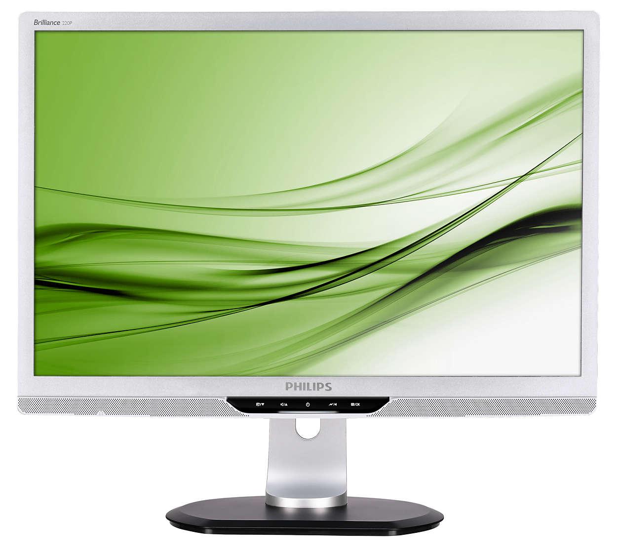 Professionel, miljøvenlig og ergonomisk skærm