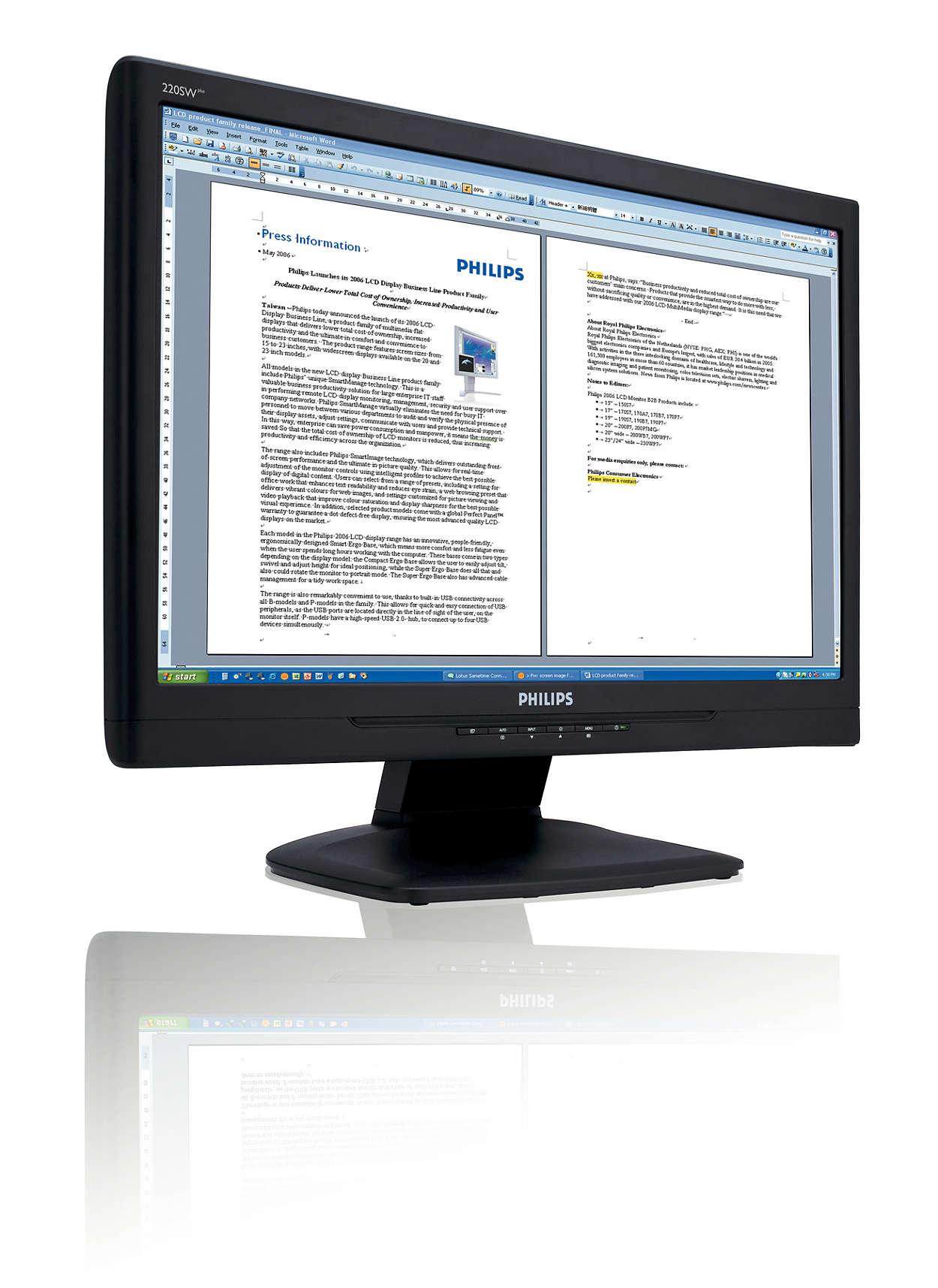 擴展至更大的濶熒幕,提高工作效率