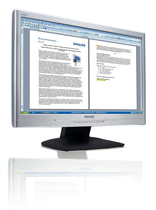 Skift til en større widescreen for bedre produktivitet