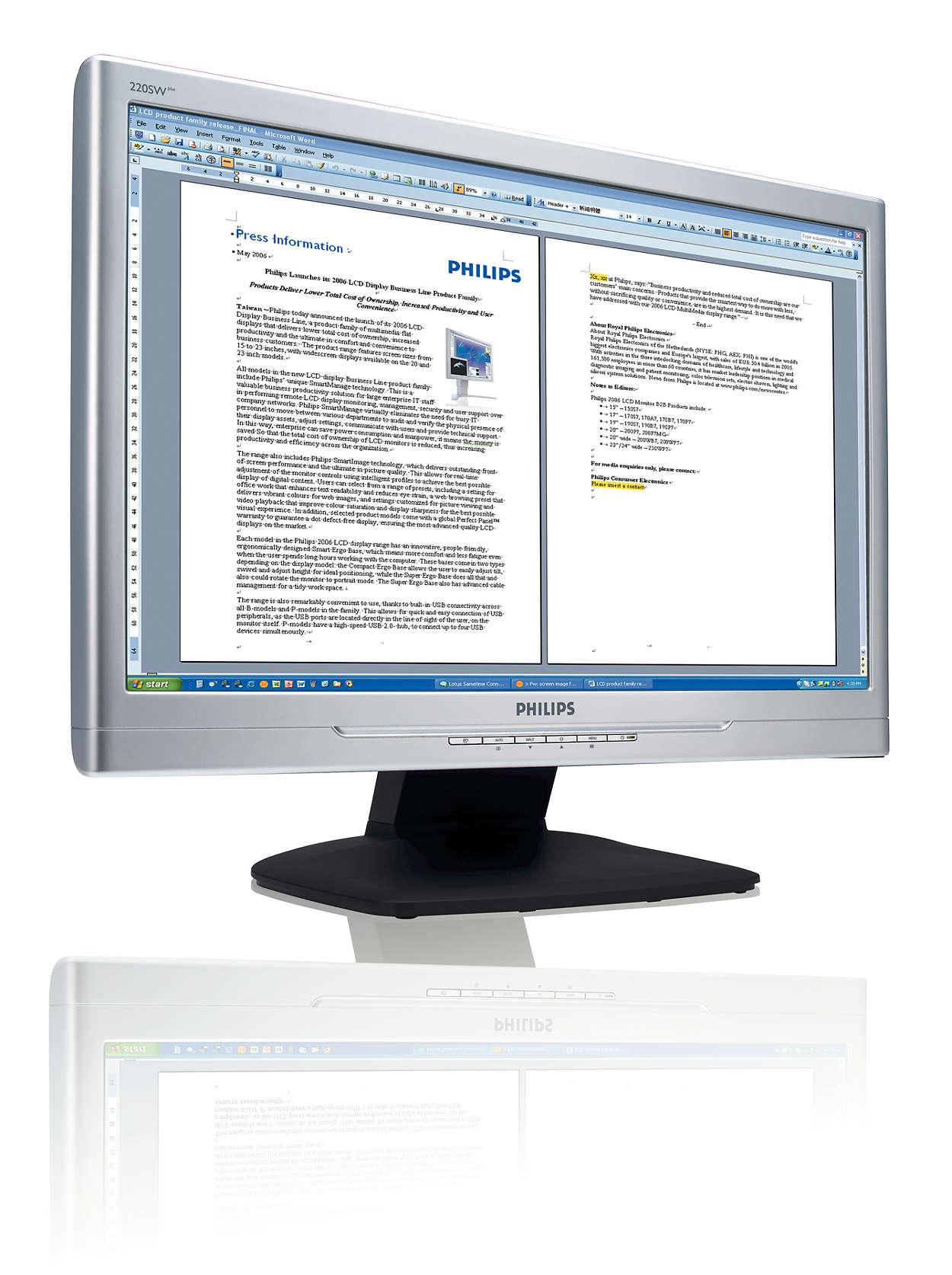 Adopte a produtividade dos monitores panorâmicos