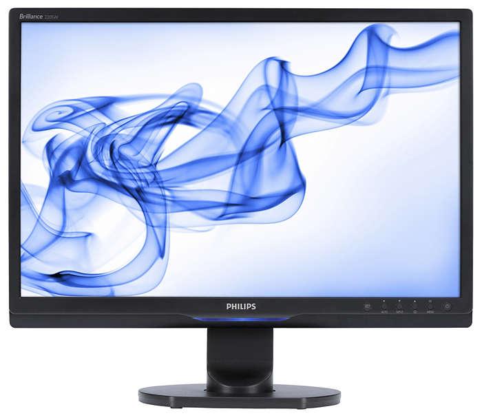 Widescreen-skjerm med høy ytelse og mange funksjoner