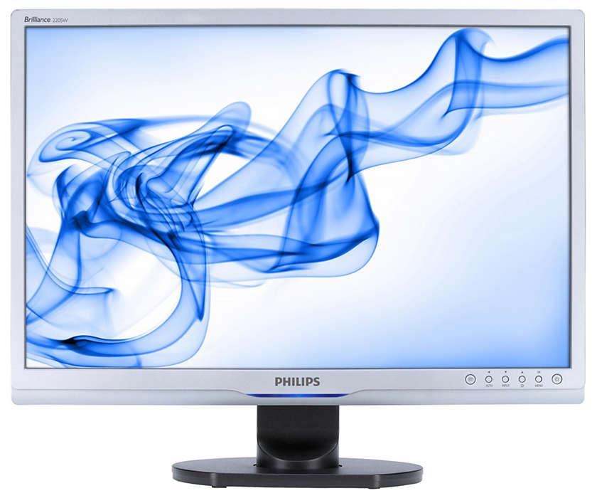 Widescreenskärm fullpackad med funktioner för ökad produktivitet