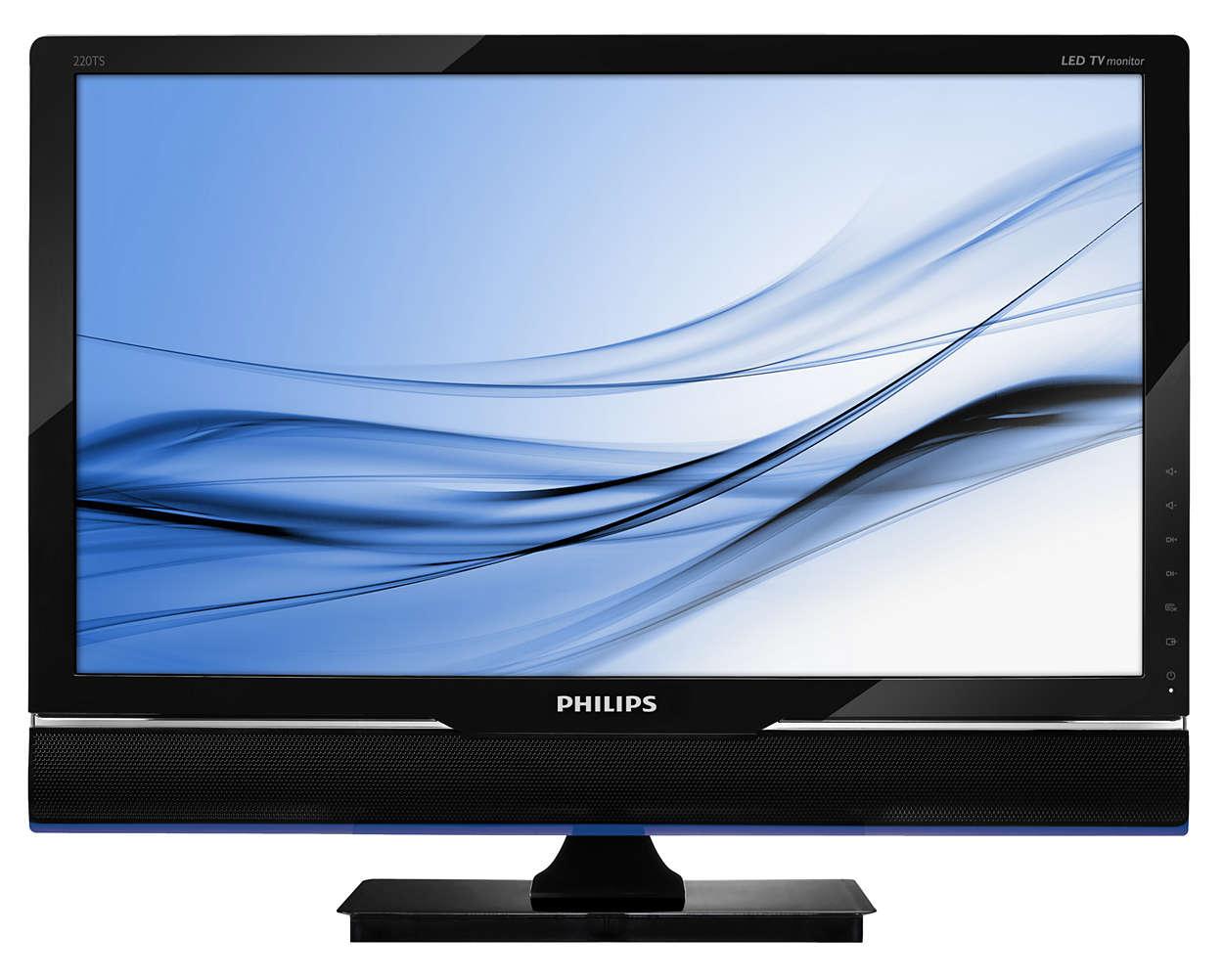 在您的 LED 顯示器上享受動人的電視娛樂