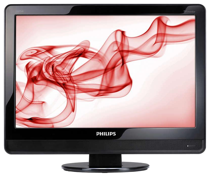 配有時尚包裝的數碼 HD-TV 顯示器