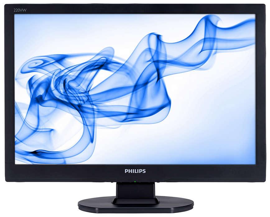 Få ekstra værdi, og spar penge med denne widescreen-skærm