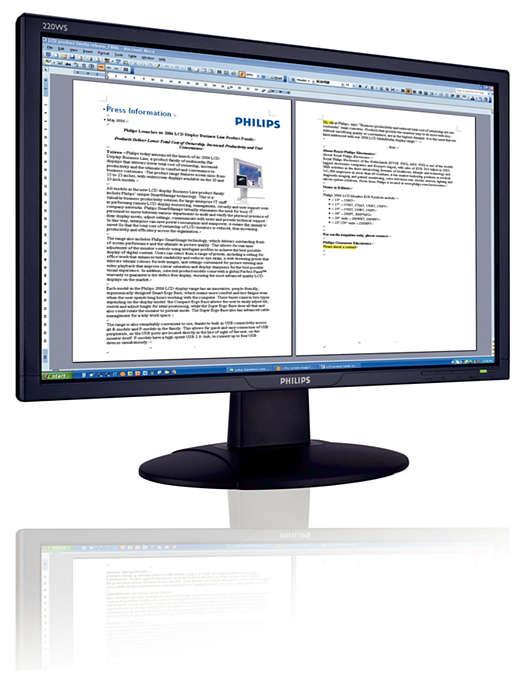 Écran 16/9 compatible avec Vista pour une productivité optimisée
