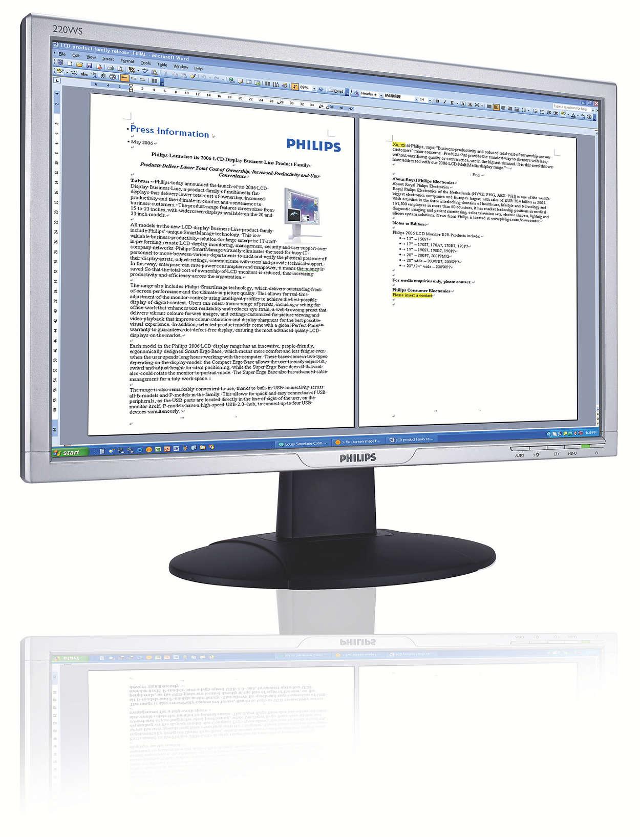 Широкoекранен и готов за Vista за бизнес продуктивност