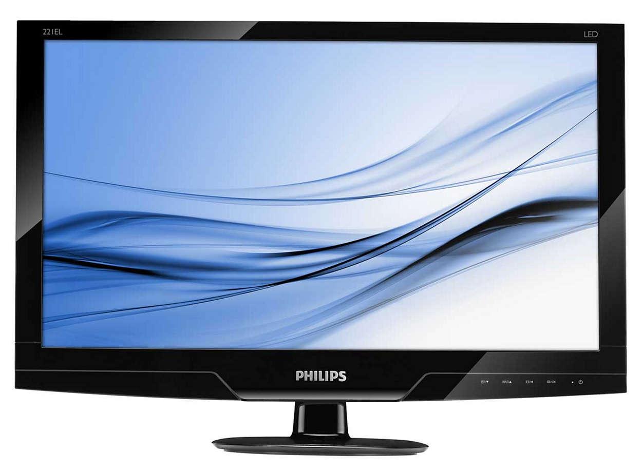 Slank og tiltalende LED-skjerm med naturlige farger