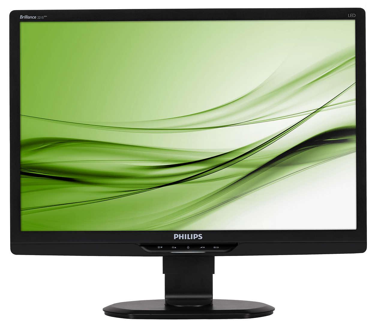 Ergonomiczny monitor LED zapewnia większą wydajność w pracy
