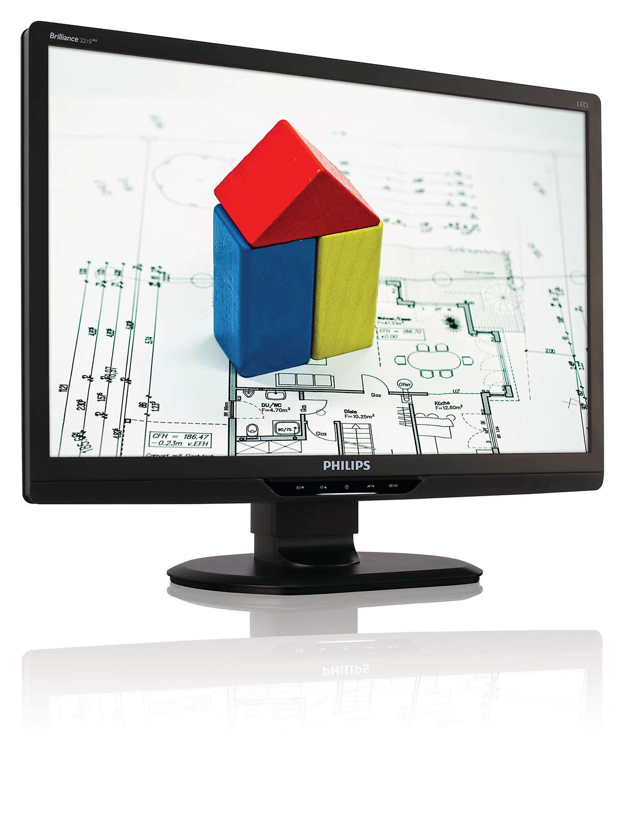 Écran ergonomique à DEL pour une meilleure productivité