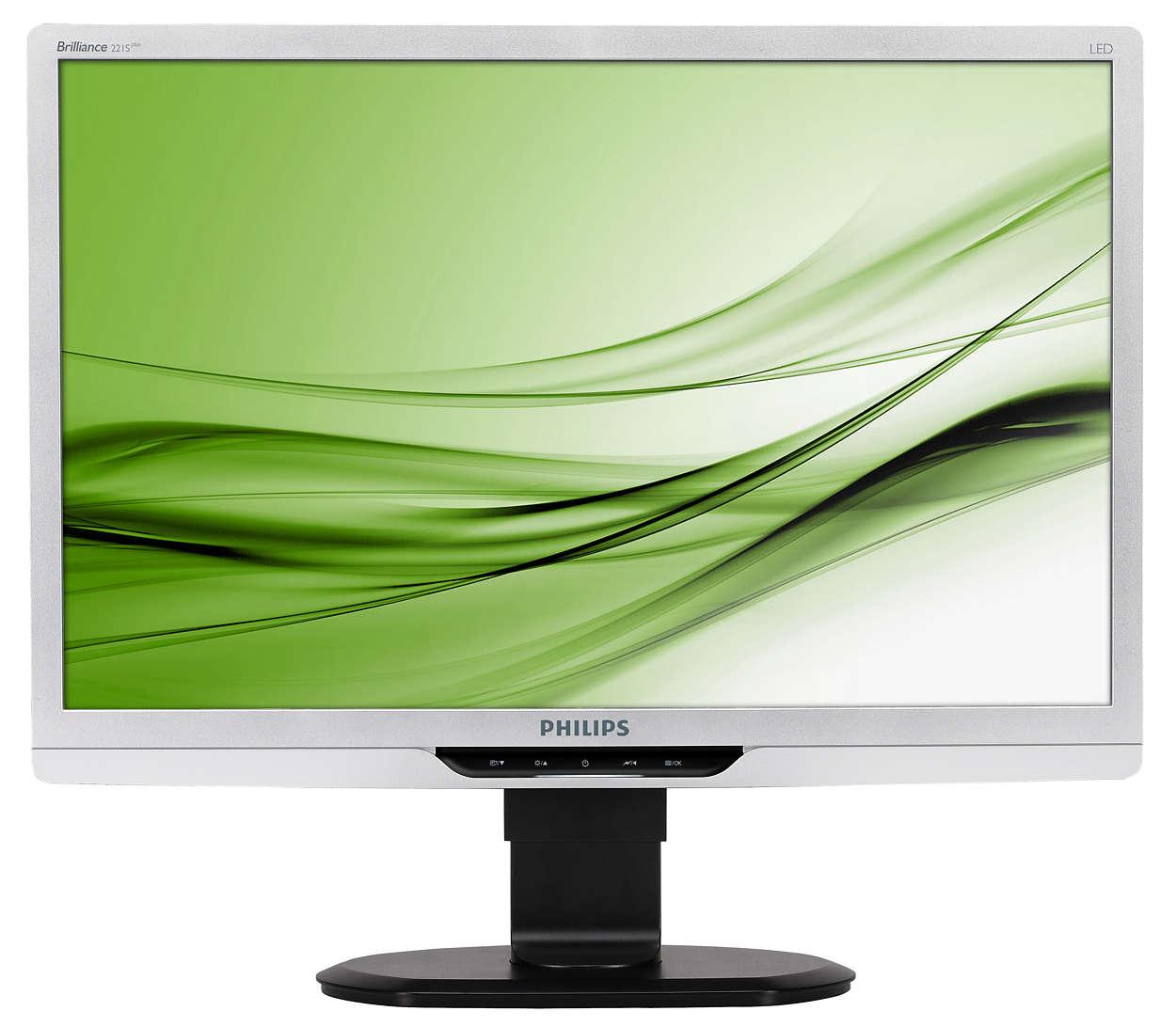 Schermo ergonomico a LED per una maggiore produttività