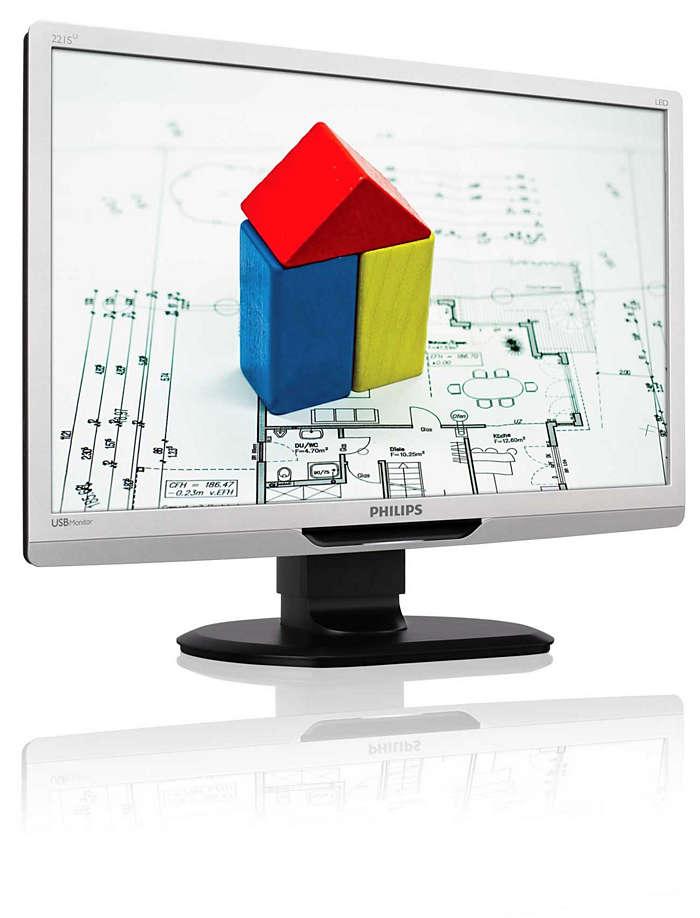 Prostota użytkowania dzięki monitorowi z obsługą USB
