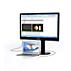 LCD-skærm med USB-dockingstation