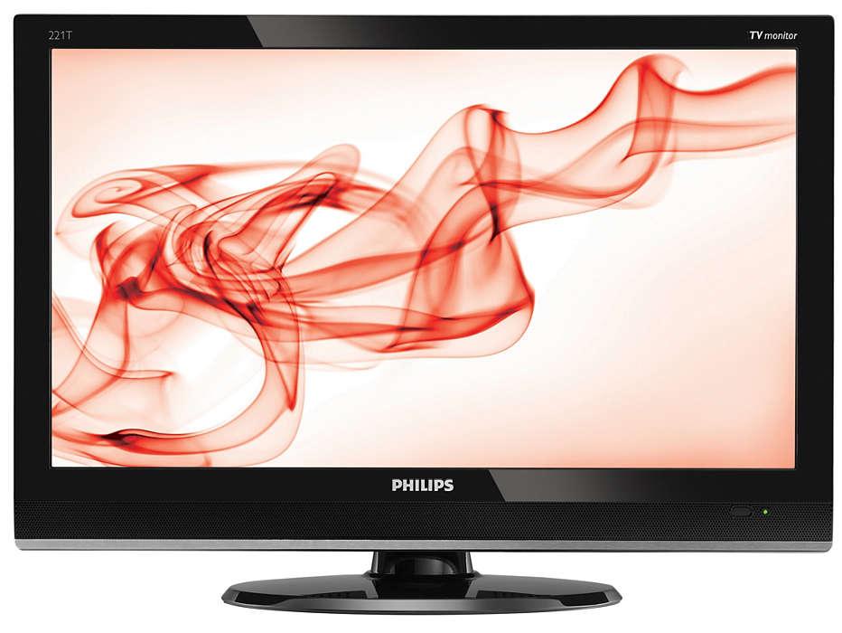 配有時尚包裝的數碼全高清類比 TV 顯示器