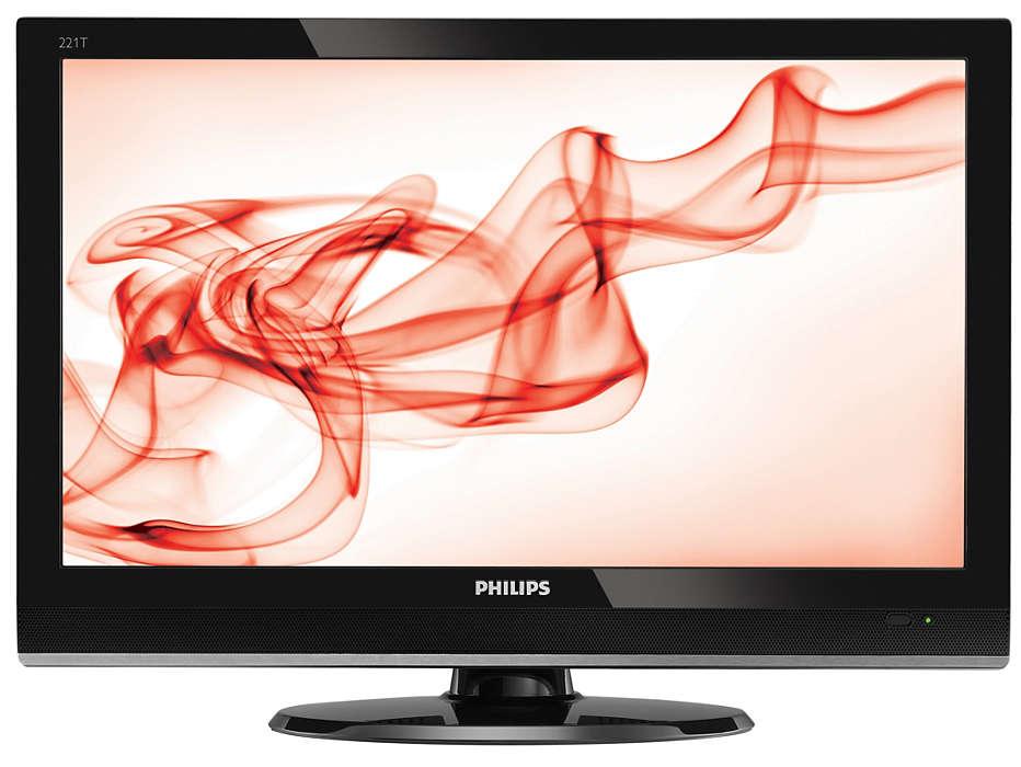 Digital ægte HD-TV-skærm i elegant indpakning