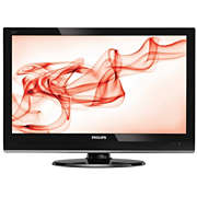 LCD-näyttö ja digitaalinen TV-viritin
